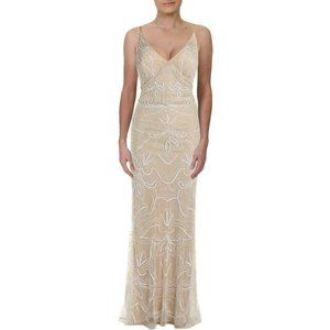 Jump Juniors/Women's 13/14 Ivory Beaded Gown Dress